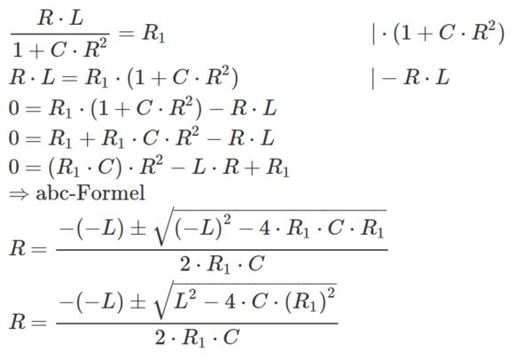 Rechenweg - (Mathe, Mathematik, Elektrotechnik)