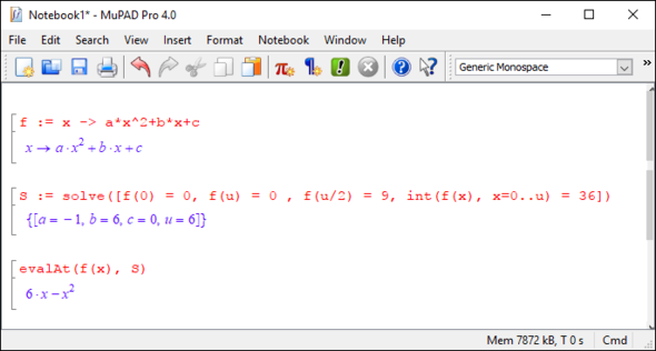 MuPAD - (Mathematik, Intrgral)