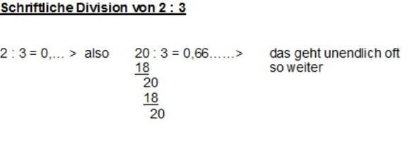 Schriftliche Division - (Mathe, zweidrittel)