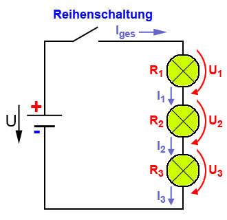 Wird Spannung In Reihe Bei Lampen Addiert Strom Lampe