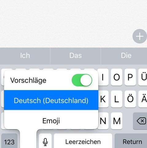 Hier siehst du die Tastatur  - (Handy, Apple, Technologie)