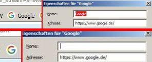 Symbol mit und ohne Text - (Firefox, Lesezeichen)