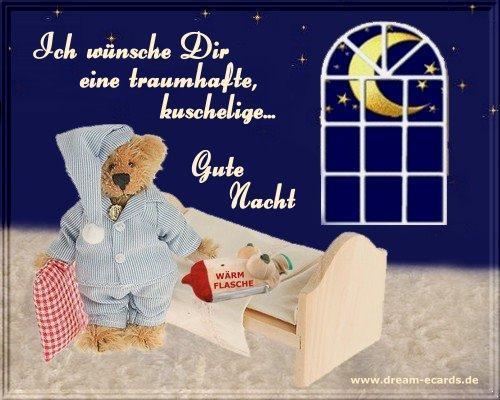 Gut`s Nächtle, wünsch ich, aus Sachsen, wo gute Träume wachsen! - (schlafen, bald zusammenbruch)