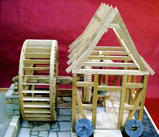 Wassermuehle - (Holz, selber bauen, Mühle)