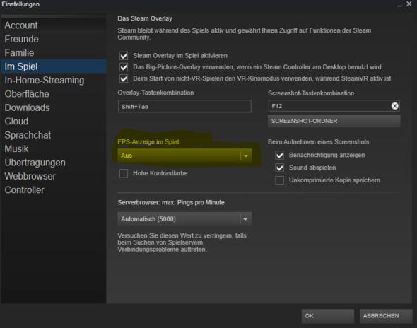 Steam FPS anzeigen - (Spiele, Hardware, Steam)