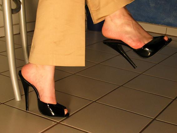 High heels bettschuhe