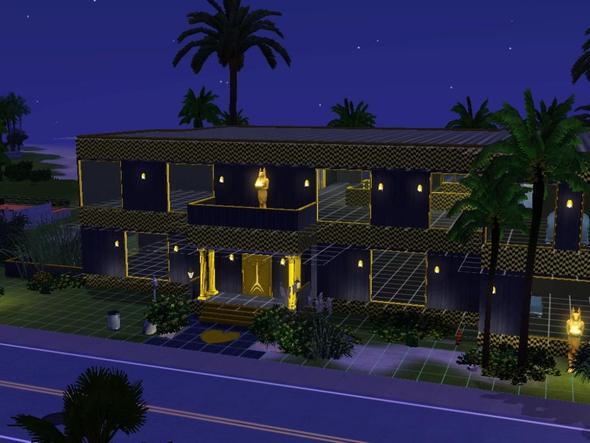 mein haus in schwarz/gelb - (PC-Spiele, Sims 3, Ideen)