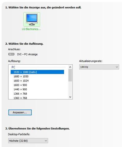 Monitor digitale max. Auflösung 1920 x 1080 (nativ) - (Auflösung, testbericht, native)