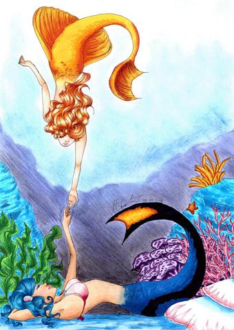 Mermaid - (Schule, zeichnen, Fachabitur)
