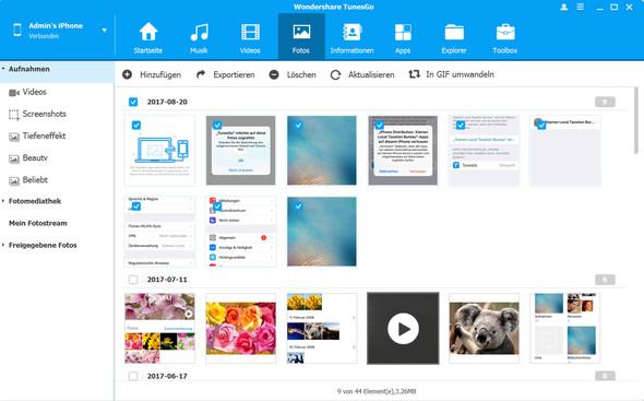 iPhones Fotos löschen. - (Internet, Handy, iPhone)