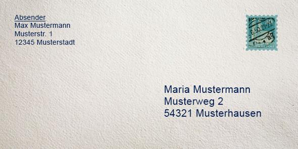 Habe Eine Ganz Normalen Briefumschlag Und Wollte Fragen Post