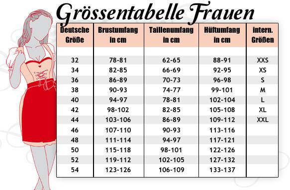 Tabelle - (Größe, xl, ll)