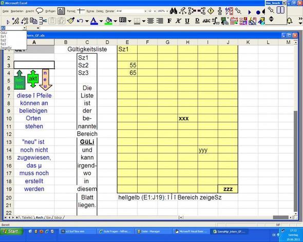 Szenariomgr Blatt Rech - (Excel, Berechnung bei Bedingung)