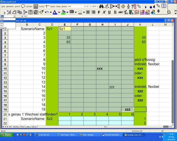 Szenariomgr Blatt Sze, Blatt Szbcp nicht gezeigt - (Excel, Berechnung bei Bedingung)