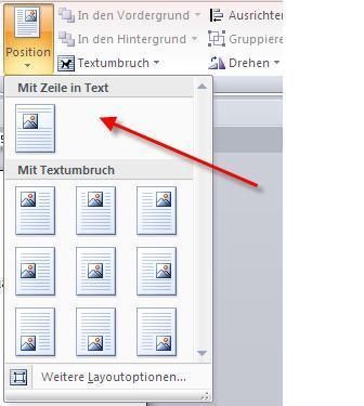 Option Text in Zeile - (Bilder, Word 2007)