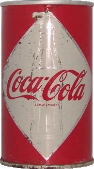 Coca-Cola Dose ca. 1965 - (Getränke, Cola, Fanta)