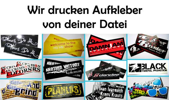 Aufkleber drucken lassen bei Band-Merch.de - (online, Photoshop, Aufkleber)