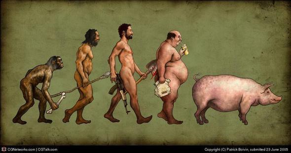 Evolution  - (Jungs und Mädchen, Beschützinstinkt)