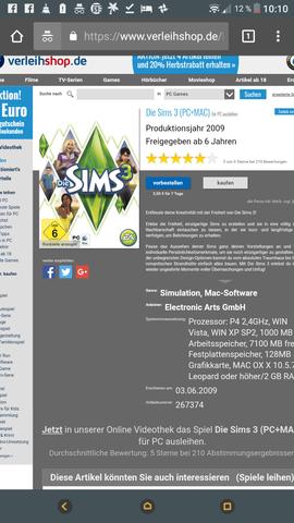 Sims3 ausleihen  - (Computer, PC, Spiele)