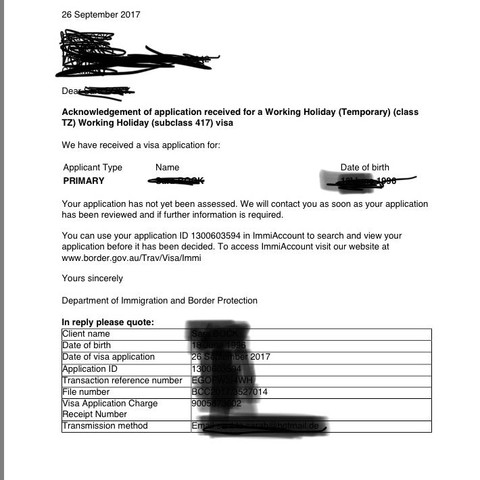 E-Mail vor der Bestätigung  - (Reisen und Urlaub, Australien, Work and Travel)