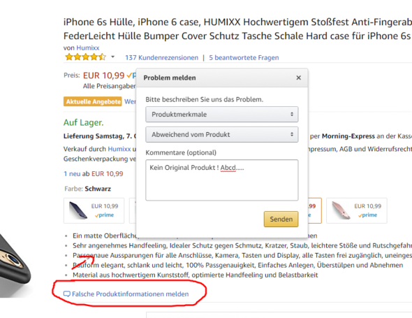 - (Amazon, Kauf, Fake)