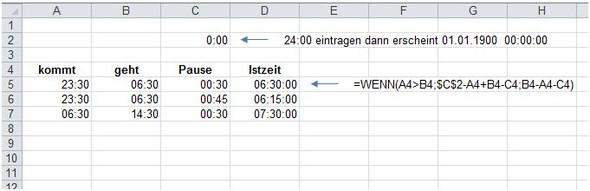 - (Excel, Tabelle, Zeiterfassung)