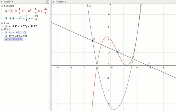 Abstand AB kurz - (Schule, Mathe, Mathematik)