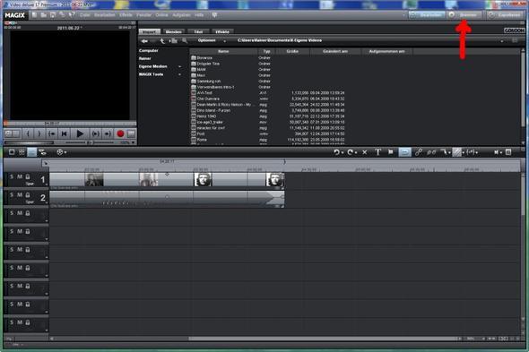 Brennen - (Computer, Videobearbeitung, Magix)
