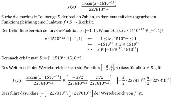 arcsin - (Schule, Mathe, Mathematik)