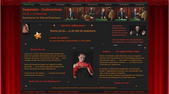 Webseite der Sorpetaler Zauberschule - (Psychologie, Geister, Mystik)
