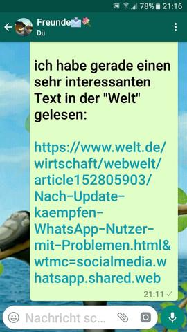 Internet Seite für iPhone Probleme mit WhatsApp - (Handy, Smartphone, WhatsApp)