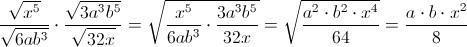 Wurzelterme vereinfachen - (Mathematik, Wurzel, potenz)