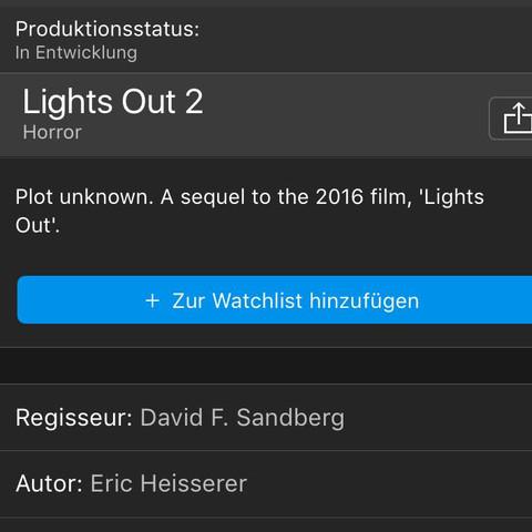 IMDB! - (Horror, Horrorfilm, Lights out2)