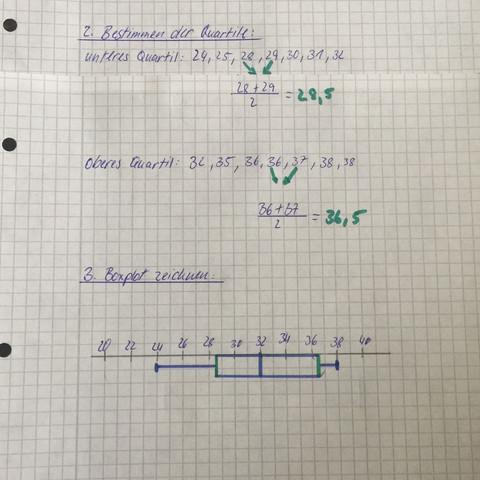 Boxplot - (Schule, Mathe, Boxplots erstellen)