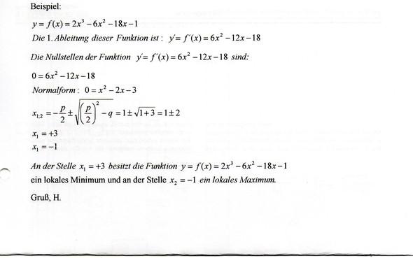 - (Schule, pq-Formel, ableiten)