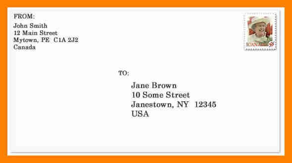 Briefe Usa : Fanbrief in die usa richtig beschriften sprache ausland