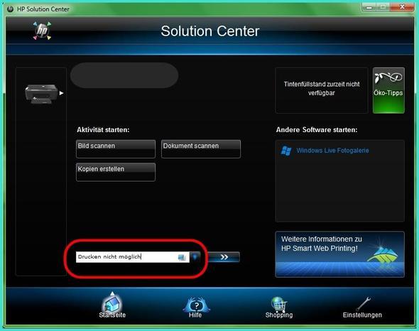 Solution Center - (Drucker, HP Desjet F2280)