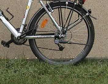 einfacher Fahrradständer am Ghost - (Fahrrad, Seitenständer)