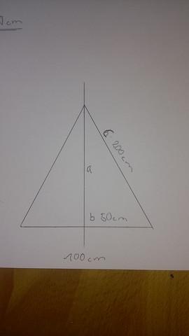 Leiter aufgeklappt - (Mathe, Berechnung, Dreieck)
