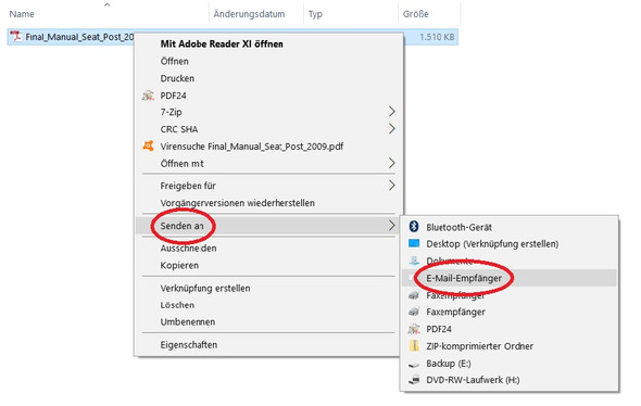 PDF-Datei als E-Mail-Anhang senden - (Computer, Technik, Windows)