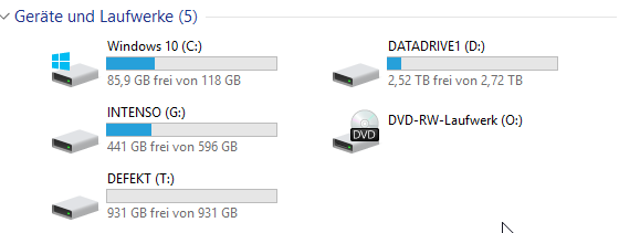 Windows-Explorer - (Festplatte, Windows 10, hdd)