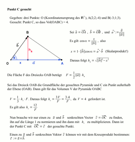 - (Mathematik, Flächenberechnung, Volumen Pyramide)