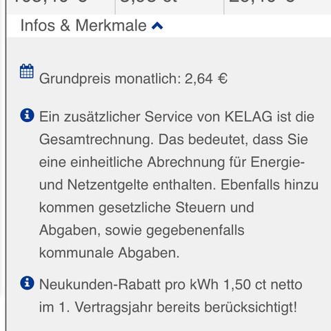 Infos und Merkmale  - (Recht, Strom, Energie)