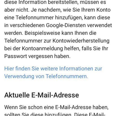 google konto ohne handynummer