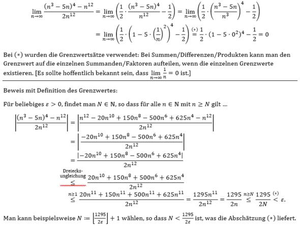 Grenzwert 2 - (Schule, Mathe, Mathematik)