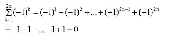Aufgabe h) - (Mathematik, Summe)
