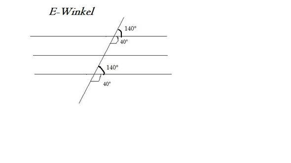 Mathe Z Winkel, F Winkel, E Winkel (Schule, Prüfung, schularbeit)