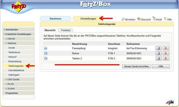 Bild1 - (Telefon, Einstellungen, Fritz Box)
