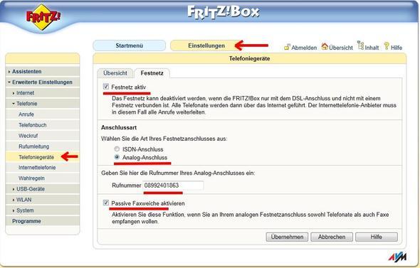 Bild2 - (Telefon, Einstellungen, Fritz Box)