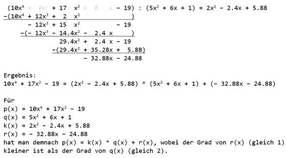 Frage zu Polynom Aufgabe? (Schule, Mathematik, Rechnen)